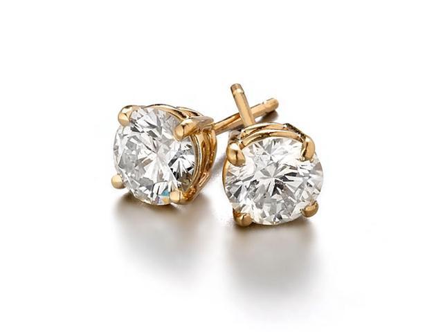 Sight Holder Diamonds 2 00 Ctw Created Diamond Studs Earring Set In 14k Yellow Gold