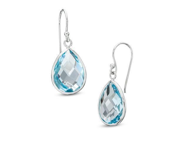 f89202065 Pear-Shaped Blue Topaz Drop Earrings in Sterling Silver - Newegg.com