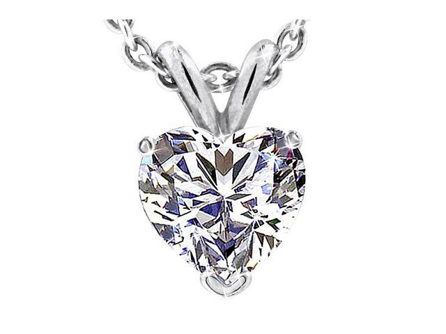 Sightholderdiamonds 200ctw created heart shape diamond pendant in sightholderdiamonds 200ctw created heart shape diamond pendant in solid 14k white gold aloadofball Gallery