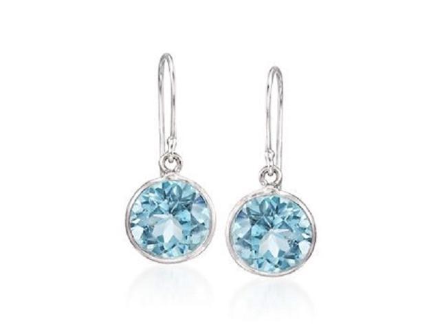 e5230b61e 3.00 ct. t.w. Blue Topaz Drop Earrings in Sterling Silver - Newegg.com