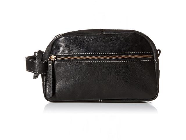 Timberland Men S Leather Travel Kit Toiletry Bag Dopp Overnight Shave
