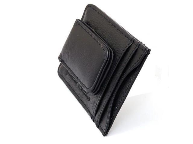 Cowhide Leather Men/'s Slim Fold Purse Card Pocket Money Clip Boy/'s Short Wallet
