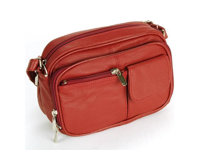 3fe9119d97d9 Womens Leather Organizer Purse Shoulder Bag Handbag Cross Body Bag Large  Clutch