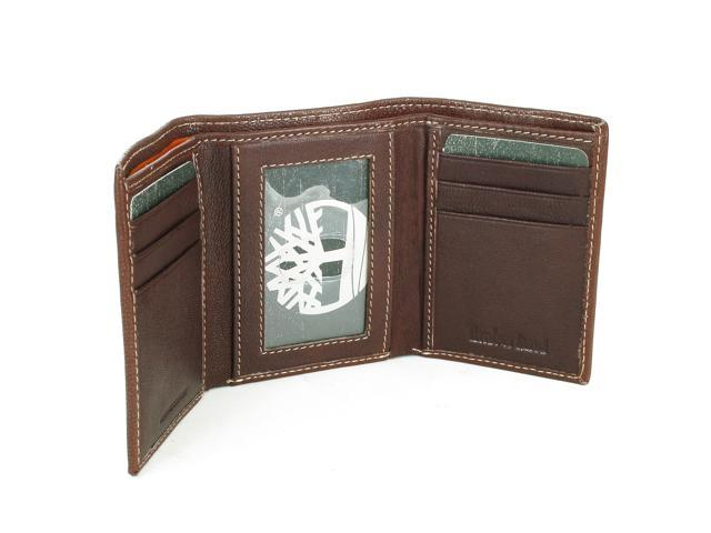 bd8a1441841a Timberland Men s Slim Trifold Wallet Soft Genuine Leather ID Card Slots Gift  Box