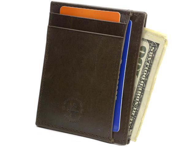 b7bb365f84b Hammer Anvil Minimalist Front Pocket Wallet RFID Blocking Thin Leather Card  Case - Newegg.com
