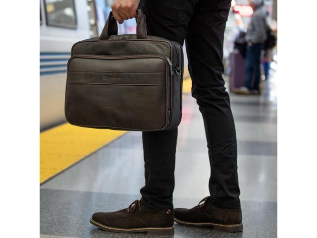 """Hammer Anvil Leather Briefcase up to 15.6"""" Laptop Case Messenger Bag Portfolio"""
