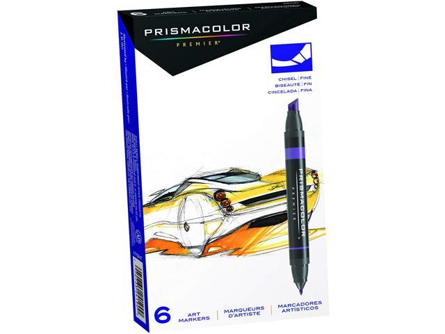 Prismacolor Premier Double Ended Art Markers Fine And Chisel Tip 6 Count
