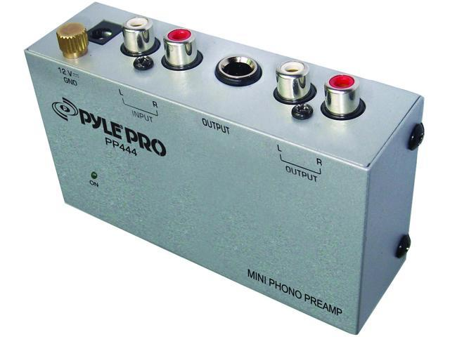 Pyle Pro PP444 Ultra Compact Phono Turntable Pre Amplifier - Newegg com