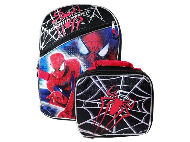 6085f32fa44d Marvel The Amazing Spiderman Backpack and Insulated Lunch Box Set -  Newegg.com