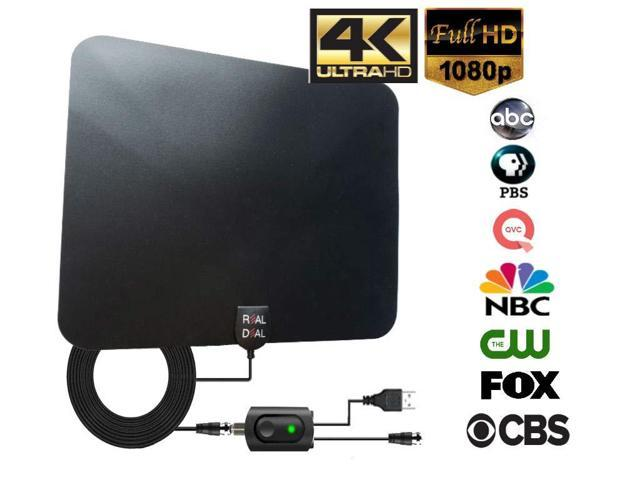Newest Portable Indoor Digital Antenna 120 Mile Long Range with HDTV Antenna