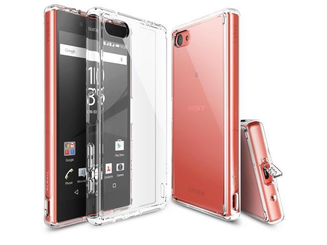 uk availability 3c162 c2c5d Sony Xperia Z5 Compact Case, Ringke® FUSION [CLEAR] Shock Absorption TPU  Bumper Clear Hard Case - Newegg.com