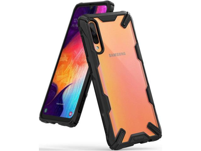 best loved b7964 4e5f0 Galaxy A50 Case, Ringke [Fusion-X] Ergonomic Transparent [Military Drop  Tested Defense] PC Back TPU Bumper Impact Resistant Protection Shock ...