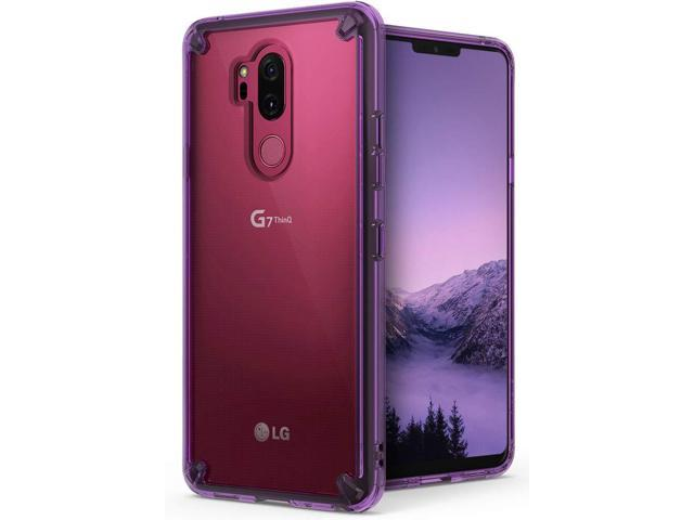 purchase cheap c31ff 98b1a LG G7 ThinQ Case, Ringke [Fusion] Ergonomic Clear [Drop Defense] Protective  PC Back Bumper Cover - Orchid Purple - Newegg.com