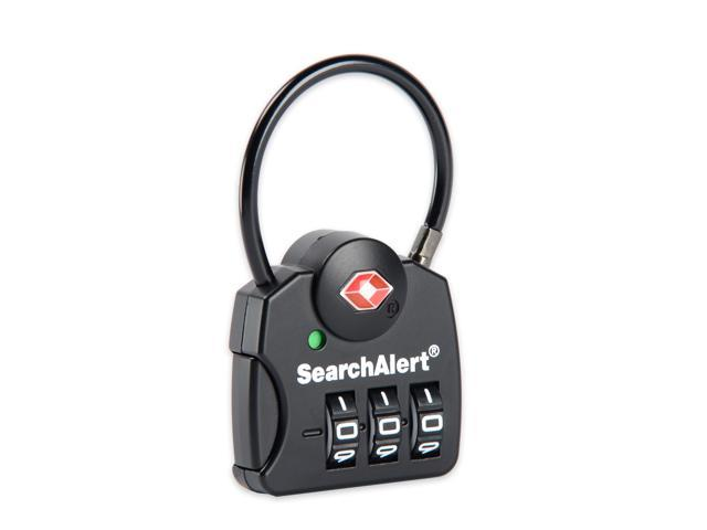 b8c35c0b4d13 SearchAlert TSA Approved 3-Dial Combination Cable Lock With Black Finish -  6 Pack - Newegg.com