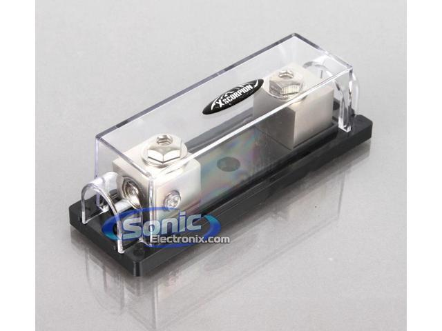 Platinum 1 Position 1//0//4 Gauge Input//Output ANL Fuse Holder with Adapter Ring
