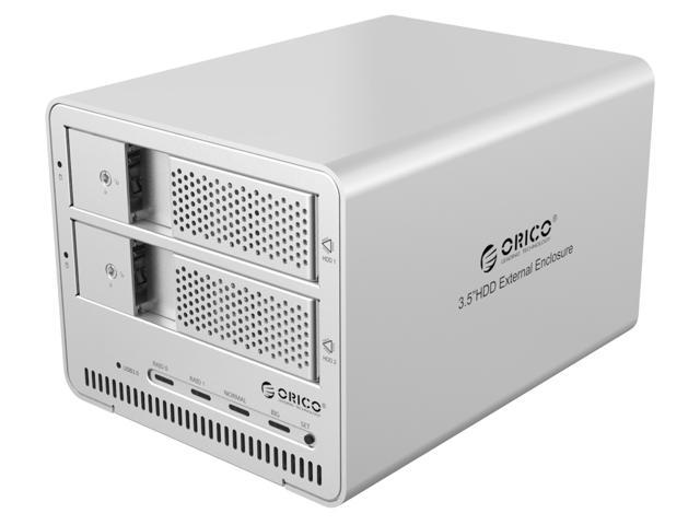 Newegg Newegg : Orico dual bay aluminum enclosure USB3 $10.99