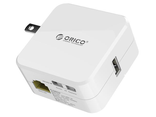 ORICO Universal Wireless Range Extender, WiFi Repeater with USB Charging Port and Blue Power Indicator -White (WRE-30)