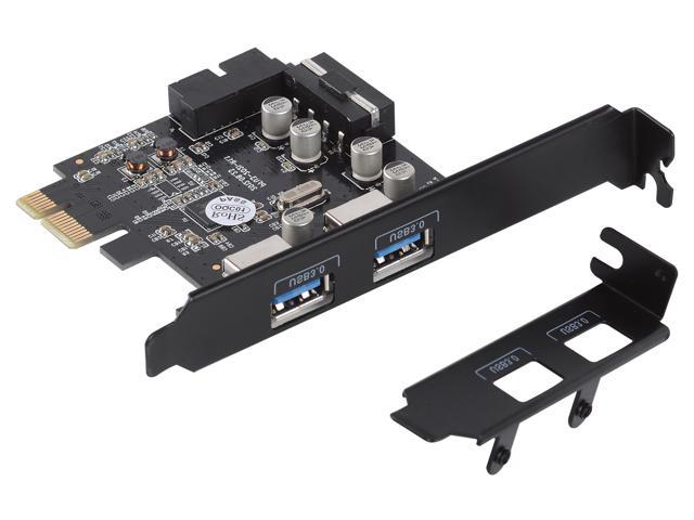[Supports Mac OS] ORICO SuperSpeed USB3 0 PCI Express Host Controller Card  4PIN to 15 PIN Power Cable (2 Port & 19PIN )Internal Card with Power Cable