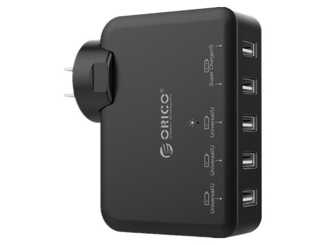 ORICO DCAP-5U 5-Port USB Wall Charger Adapter - Black