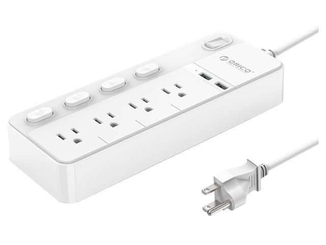 Desktop Power Strip-USB Recessed Power Socket-2 Outlets 3 USB Charging Stations