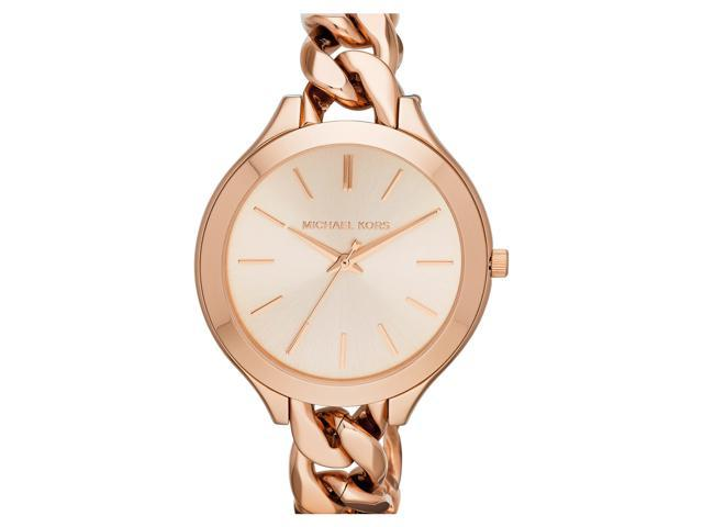 095d653c8843 Michael Kors MK3223 Slim Runway Twist Rose Dial Rose Gold-Tone Women s Watch