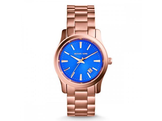 d6dacf4a3675 Michael Kors Runway Quartz Blue Dial Women s Analog Watch  MK5913