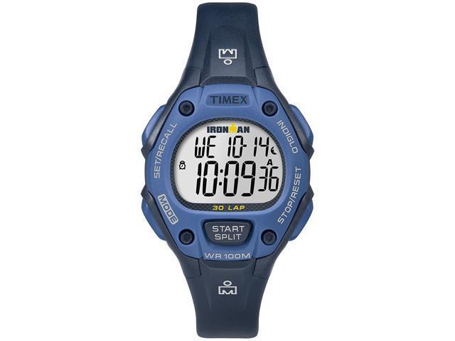 2d92fecde335 Reloj azul 34 mm resina Timex TW5M14100 Ironman clásico 30 tamaño medio  mujer - Newegg.com