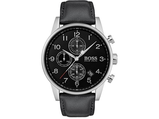 276d7cfbf Hugo Boss 1513678 Navigator Men's Watch Black 44mm Stainless Steel ...