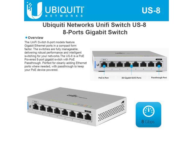 Ubiquiti US-8-US Unifi Switch - Newegg com