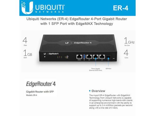 UBIQUITI NETWORKS UBI#ER4 EDGEROUTER 4-PORT - Newegg com