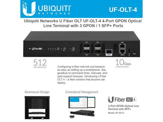 Ubiquiti Networks U Fiber UF-OLT-4 4-Port GPON Optical Line Terminal with 3  GPON and 1 SFP+ Ports up to 512 UFiber ONUs (128 per PON port) - Newegg ca