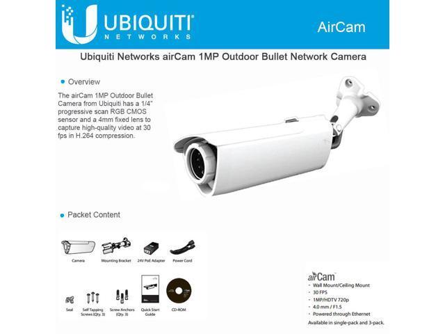Ubiquiti AirCam - H 264 Megapixel Camera, 1MP/HDTV - Newegg com