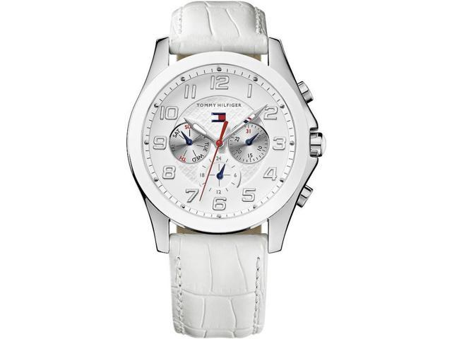 dc79ca3e3 Tommy Hilfiger White Leather Chronograph Ladies Watch 1781281 ...