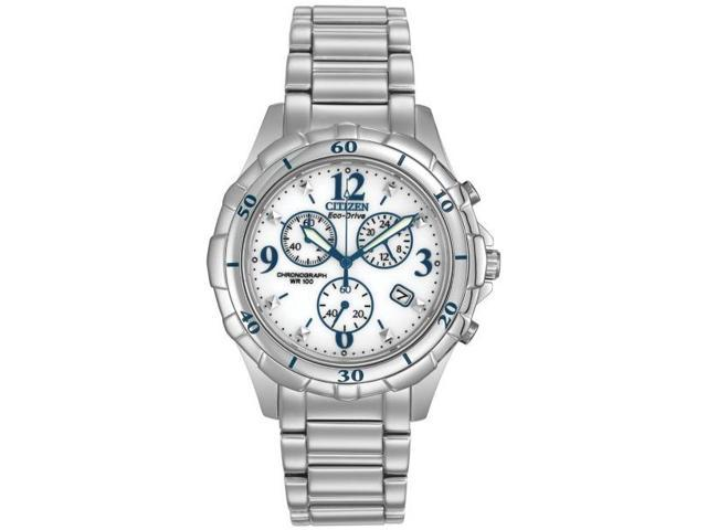 Citizen Eco-Drive Stainless Steel Chronograph Ladies Watch FB1350 ... 9d4c39460