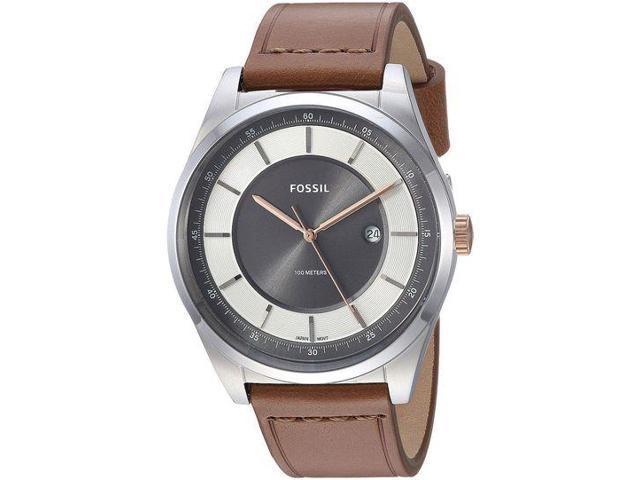 06328746c Men's Fossil Mathis Light Brown Band Watch FS5421 - Newegg.com