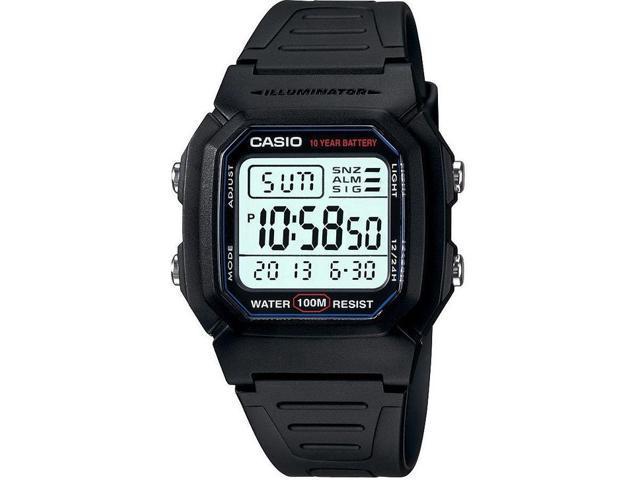 Men's Casio Black Digital Sports Watch W800H-1AV
