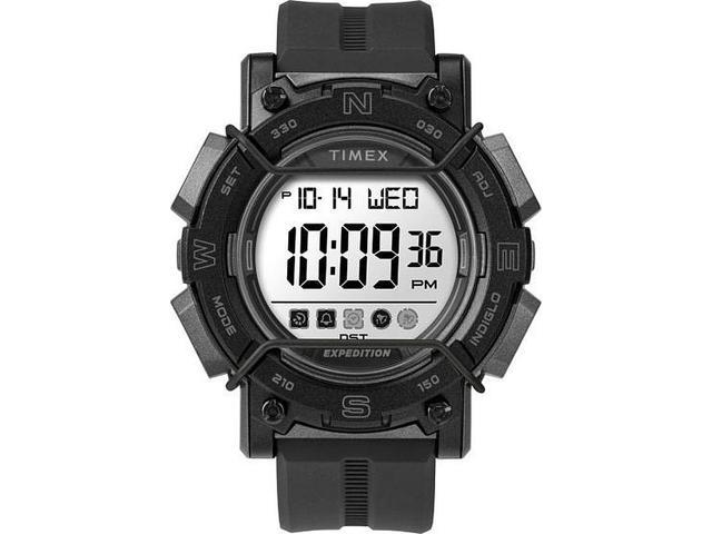 Men's Timex Expedition CAT Digital Black Resin Band Sports Watch TW4B18100