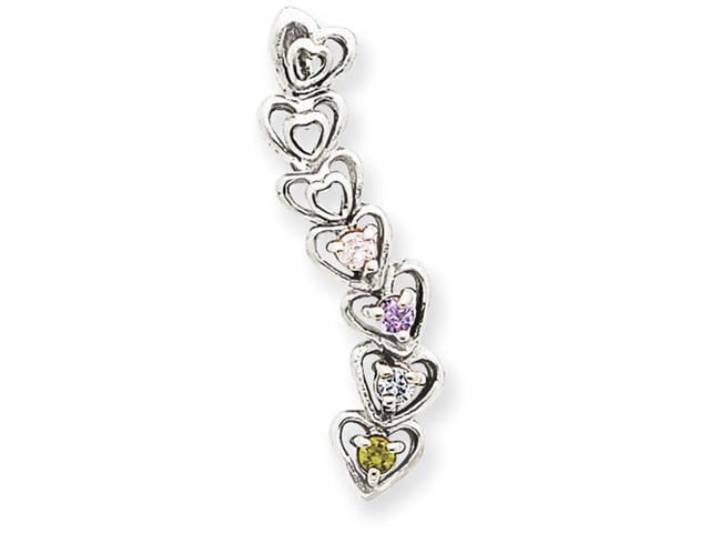 Jewelry Adviser Pendants 14k 4 Stone Family Pendant Mounting
