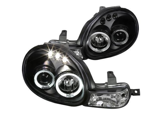 Spec D Tuning 2000 2002 Dodge Neon Led Projector Headlights Black 2001 00 01