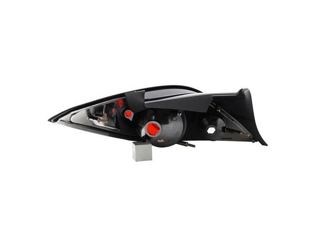 2006-2009 Pontiac G6 Black LED Projector Headlights+Black Rear Brake Tail Lamps