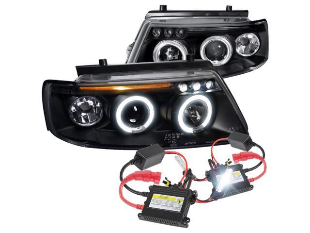 Spec-D Tuning For 1997-2000 Volkswagen Pat Dual Halo Led Black Projector on