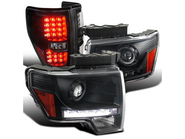 2014 F150 Headlights >> Spec D Tuning For 2009 2014 Ford F150 Black Clear Led Projector Headlights Led Tail Lamps Left Right 2009 2010 2011 2012 2013 2014