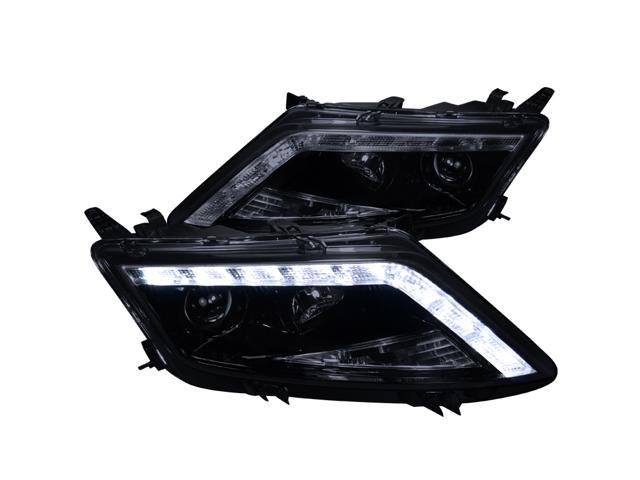 2010-2012 Ford Fusion Smoke LED Projector Headlights Head Lamps Glossy Black