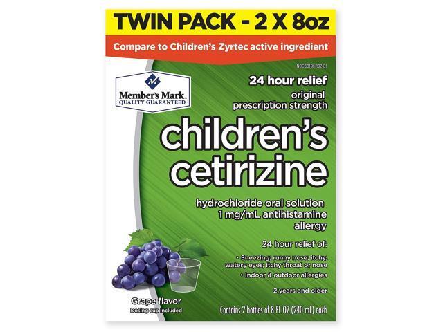 Member's Mark Children's Cetirizine Allergy Relief, Grape (2 ct , 8 oz   ea ) - Newegg com