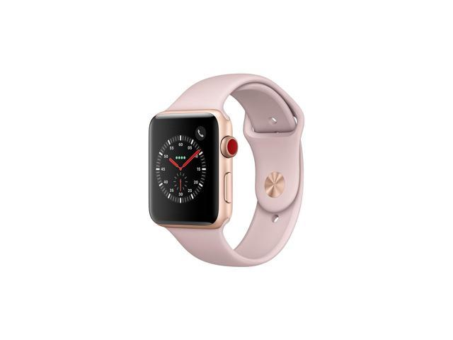 huge selection of ae9be 4a650 Apple Watch Series 3 GPS + Cellular-Gold Aluminum Case with Pink Sand Sport  Band - Newegg.com