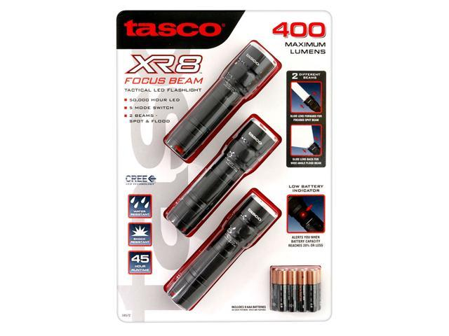 Tasco XR8 Focus Beam 400 Lumen Tactical LED Flashlight (3 Pack) - Newegg com
