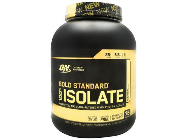 Optimum Nutrition Gold Standard 100 Isolate Rich Vanilla 76 Servings Newegg Com