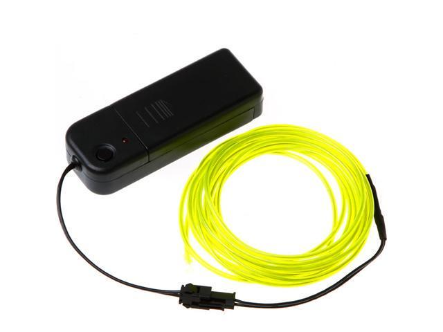 3M Lemon Flexible Neon Light EL Wire Rope Tube with Controller ...