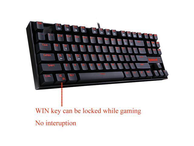 Redragon KUMARA K552 Professional Gaming Mechanical Metal Keyboard with  Backlit 87 Keys Anti Ghosting - Newegg com