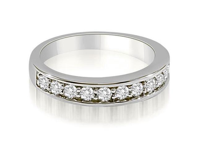 0 65 Cttw Classic Round Cut Diamond Wedding Ring In Platinum